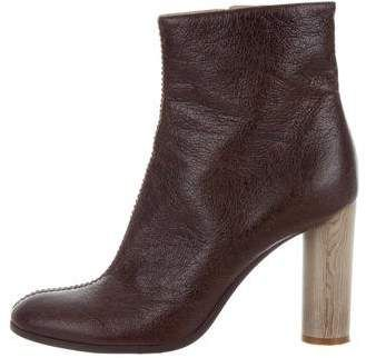 Stella McCartney Vegan Satin Round-Toe Ankle Boots cheap discount BNd9hi2PWW