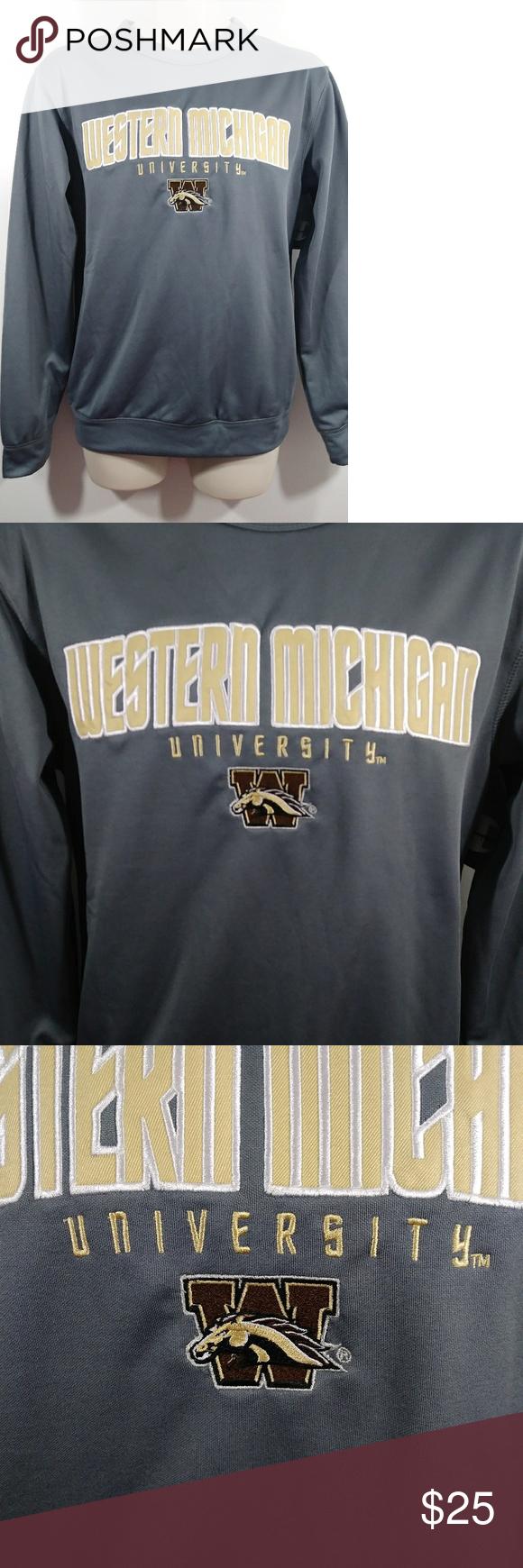 Champion Men S Wmu Broncos Sweatshirt Small Champion Western Michigan University With Broncos Logo Gray With Champion Shirts Clothes Design Broncos Sweatshirt [ 1740 x 580 Pixel ]