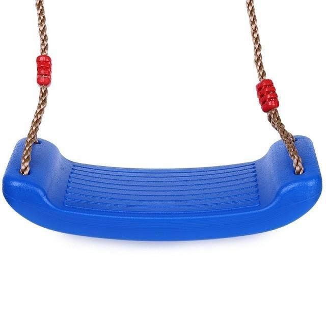 Child Outdoor Patio Swing Seat Toys Environmental Plastic Tree Swing Rope  Seat For Kids