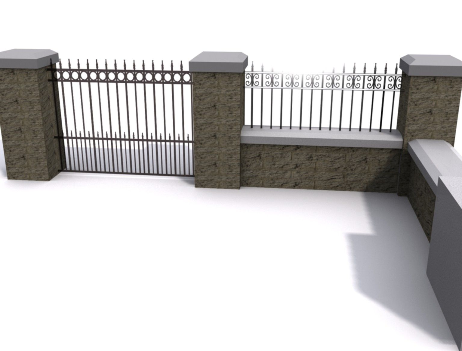 concrete wall 3d model