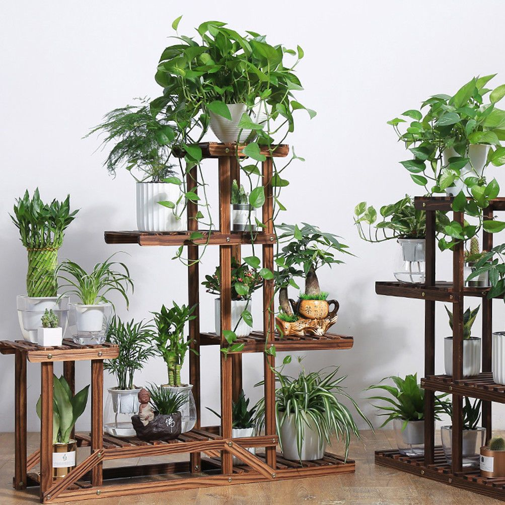 Picture 1 Of 12 Plant Stand Wooden Plant Stands Plant Shelves