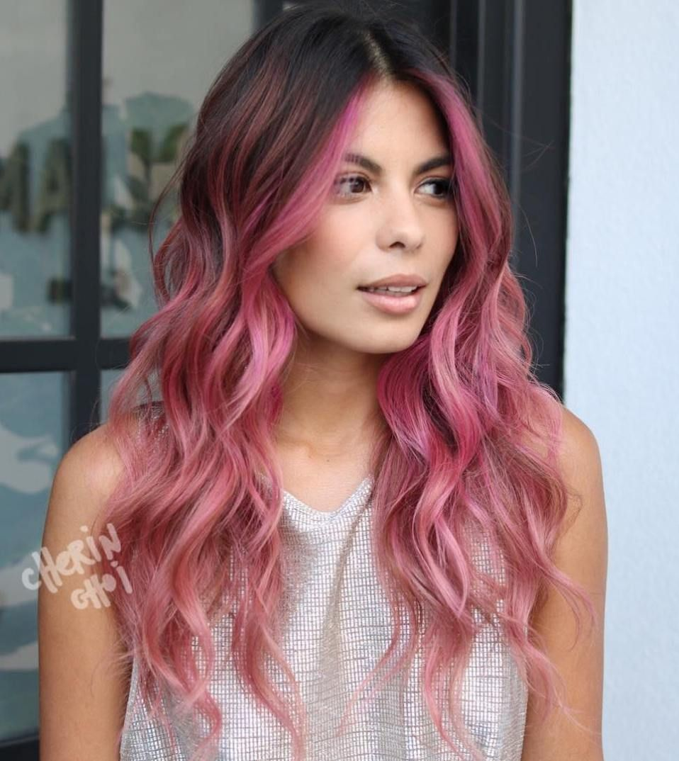 40 Ideas Of Pink Highlights For Major Inspiration Ombre Hair Color Pink Hair Highlights Pink Hair