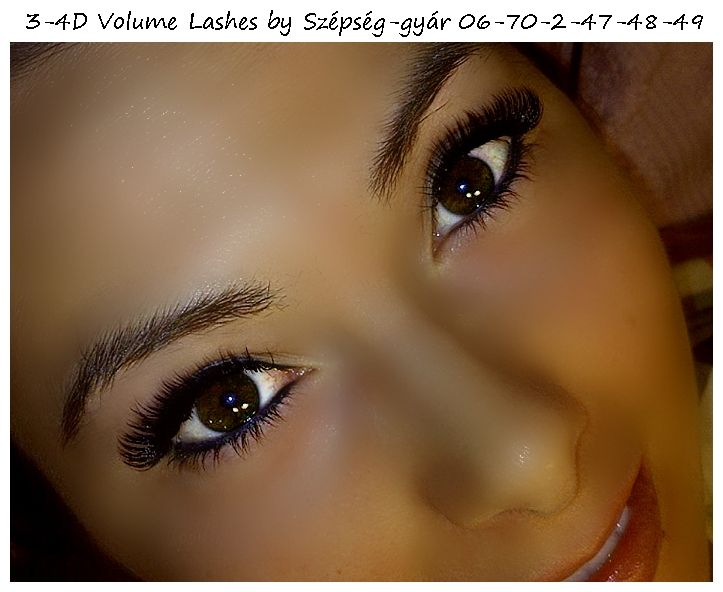 3-4 D Volume lashes