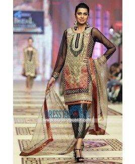 DR12019 Shop Best Pakistani Wedding Guest Dresses Online at