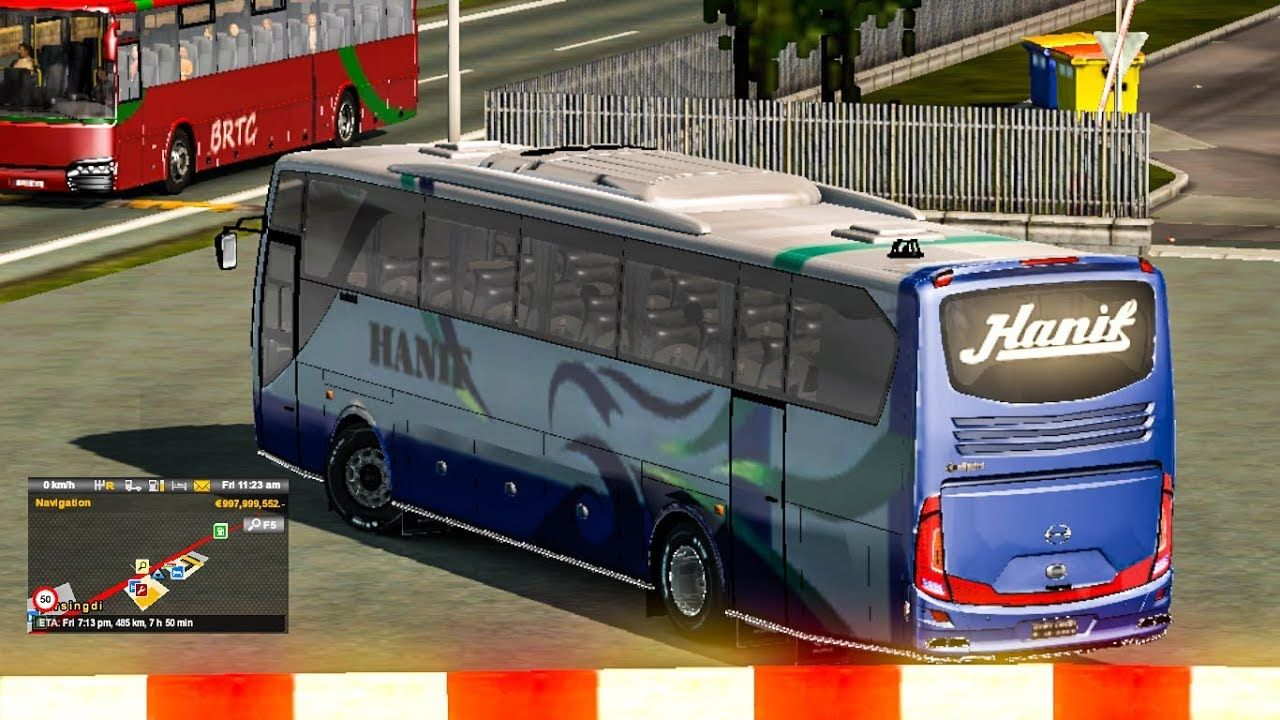 Ets2 - hanif best bus driving with Aggressive traffic mod