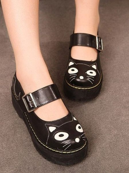 6e88f1ac26 Cat creepers | Dream Wardrobe | Cat shoes, Shoes, Kawaii shoes