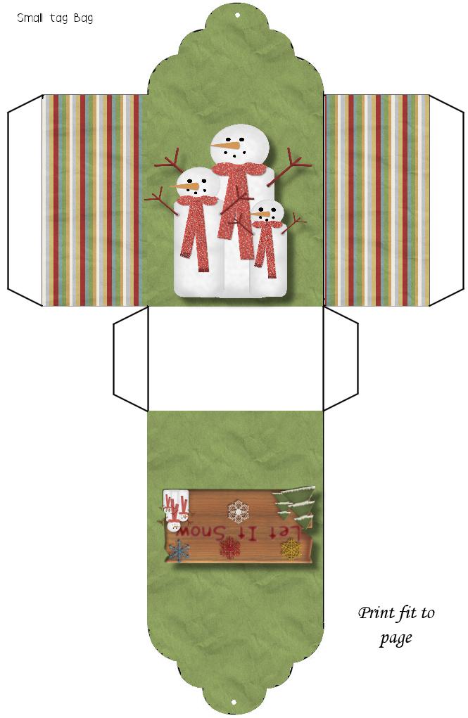 Digital Keepsakes Snowman Tagbag Png 665 1 021 Pixeles Kerst Knutselen Geschenkdozen Knutselideeen