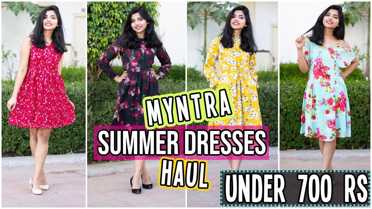 Myntra Summer Dresses Haul 6 Dresses Under 700 Casual Party Wear Dresses Summer Dresses Party Wear Dresses Party Wear [ 720 x 1280 Pixel ]