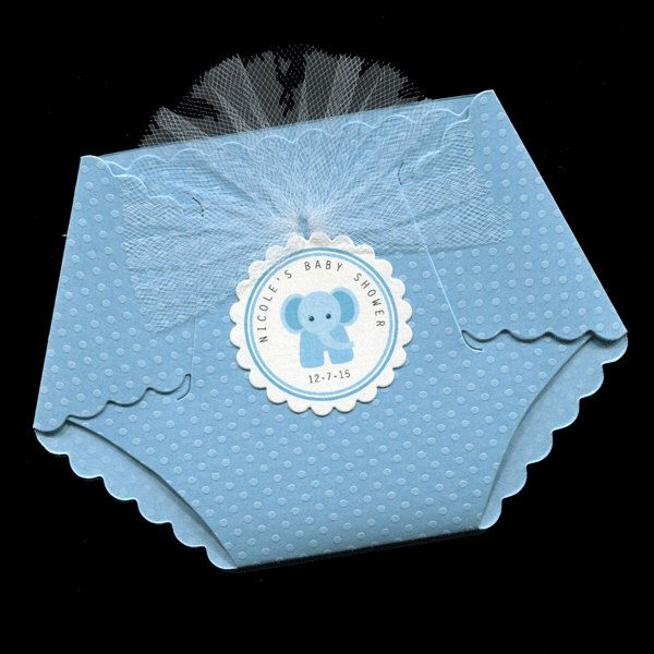 Baby Shower Invitations - Diaper Invitation - Diaper Shaped