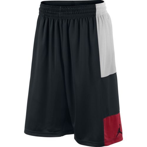 Nike Jordan Trillionaire New Men Sz 2xl Xxl Basketball Shorts Black Red White With Images Basketball Shorts Black And Red Shorts