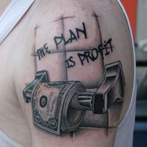Small Money Bag Tattoo: Money Tattoos For Men 2018