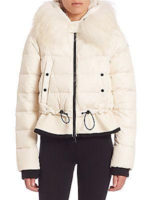 e1c6f6fb1d7f Moncler Veanne Fur-Trimmed Hooded Puffer Jacket