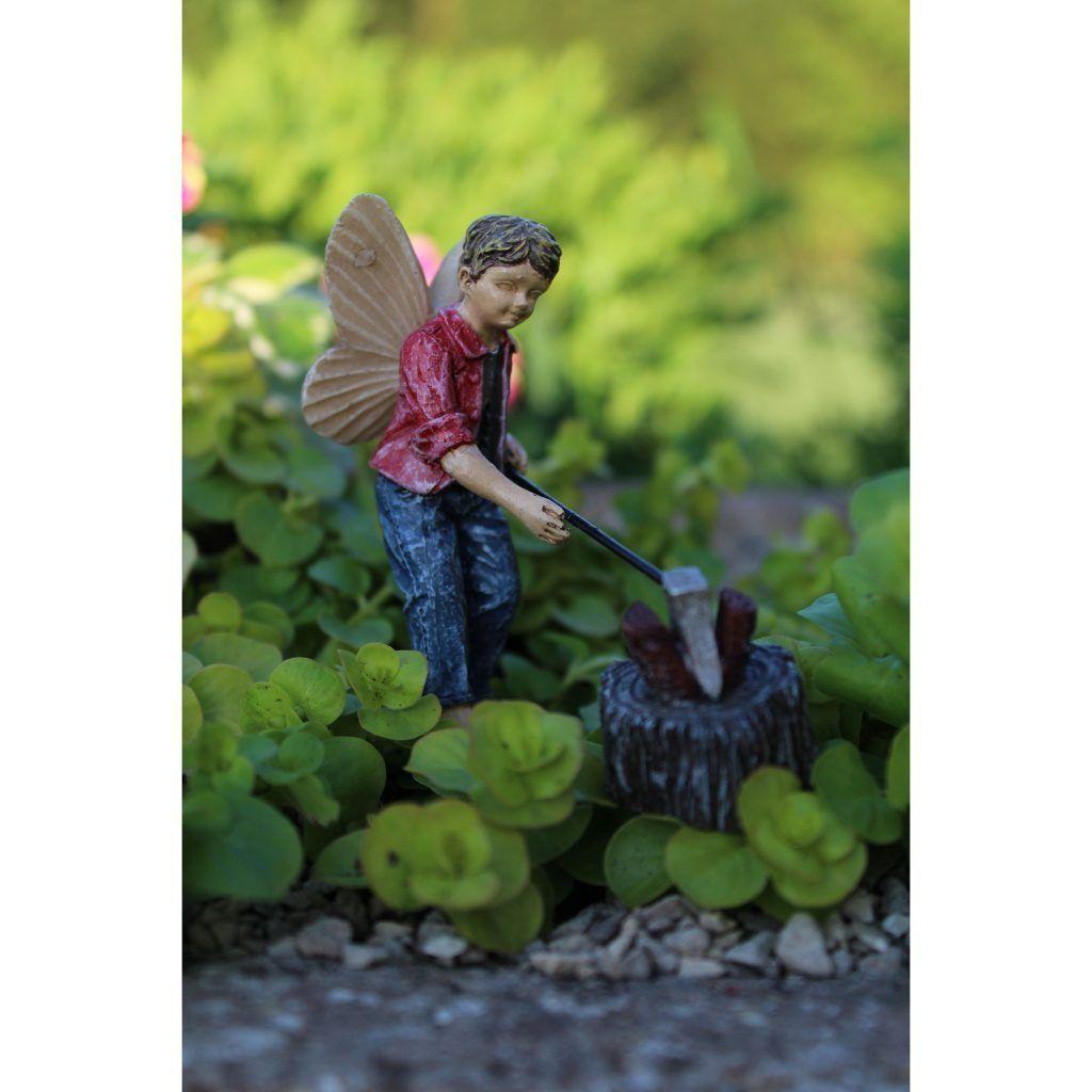 Fairy Garden-Huck With Ax & Firewood-Fairies-Wholesale Fairy