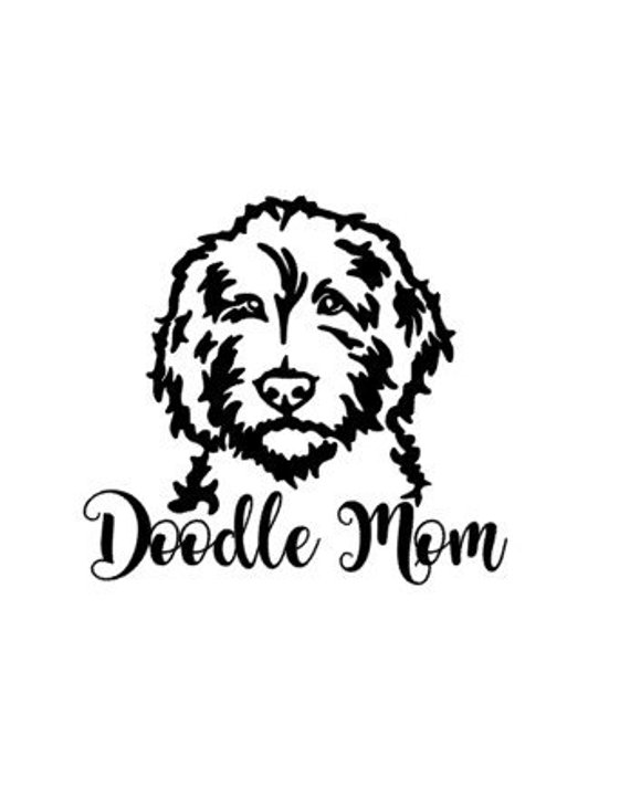 ab58c72e0ae3d Personalized Doodle Mom Inspired Vinyl Decal Sticker | Products ...