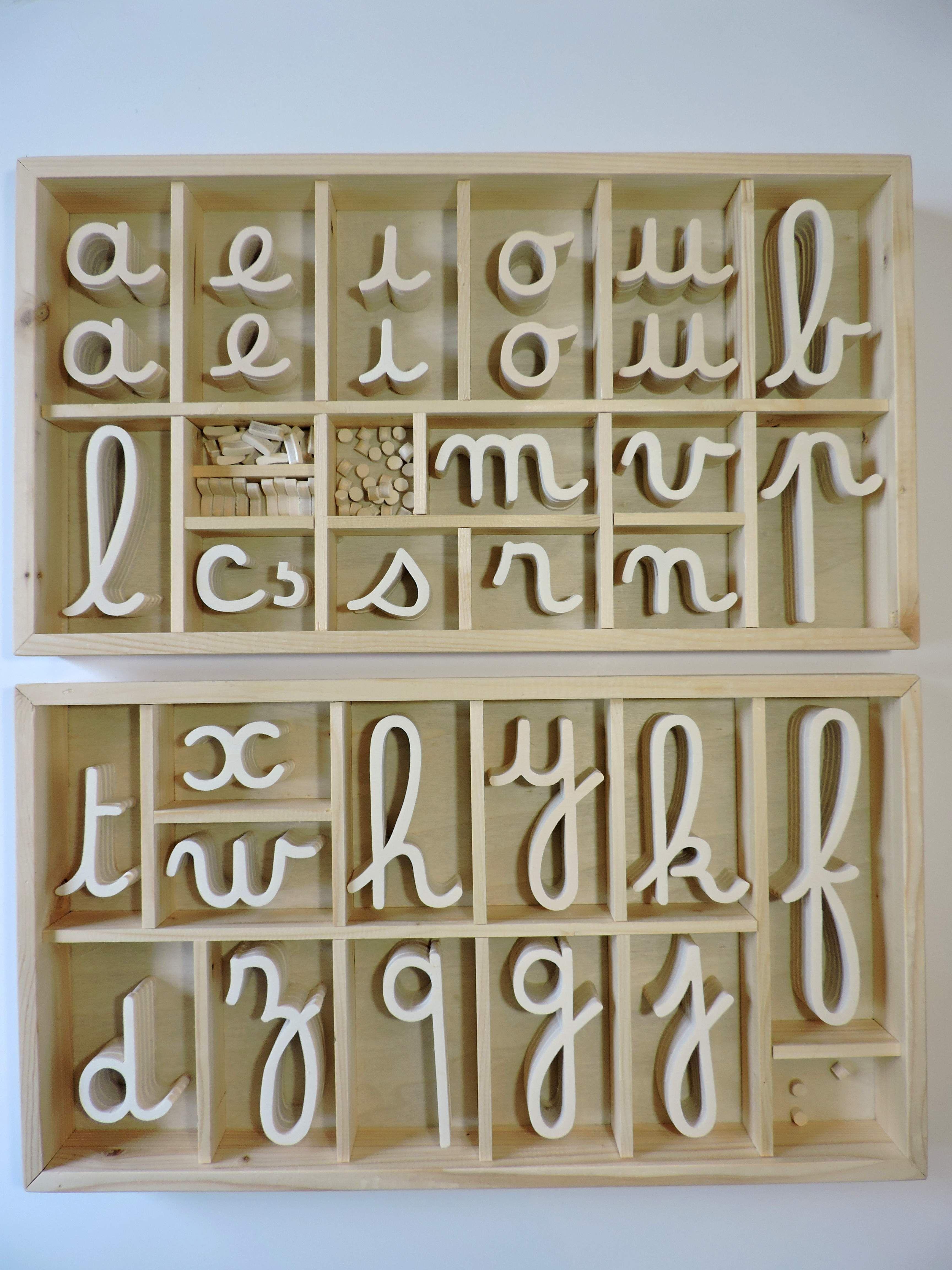 Alphabox Cursif Dumont 2 Boites 5 Ex De Chaque Consonne Dont