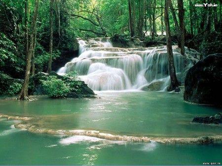 kumpulan wallpaper gambar pemandangan alam terbaru waterfall_2153