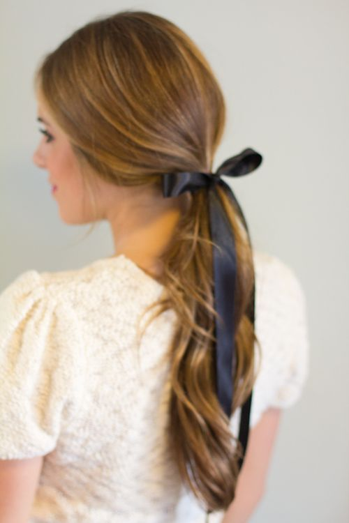 6 Ways To Wear A Ribbon In Your Hair Long Hair Styles Hair Styles Pretty Hairstyles