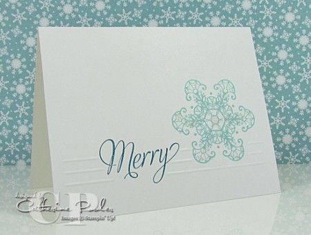 Snowflake Soiree Stampin' Up One Layer Card