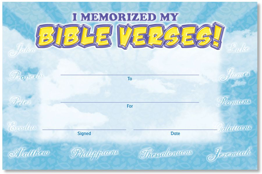 Bible memory verse certificate read one man 39 s amazing for Certificate of salvation template