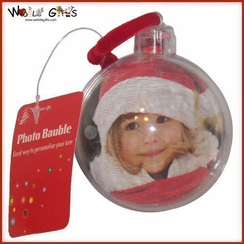 UCB - Bola de navidad personalizable (para 2 fotos de 6 cm)