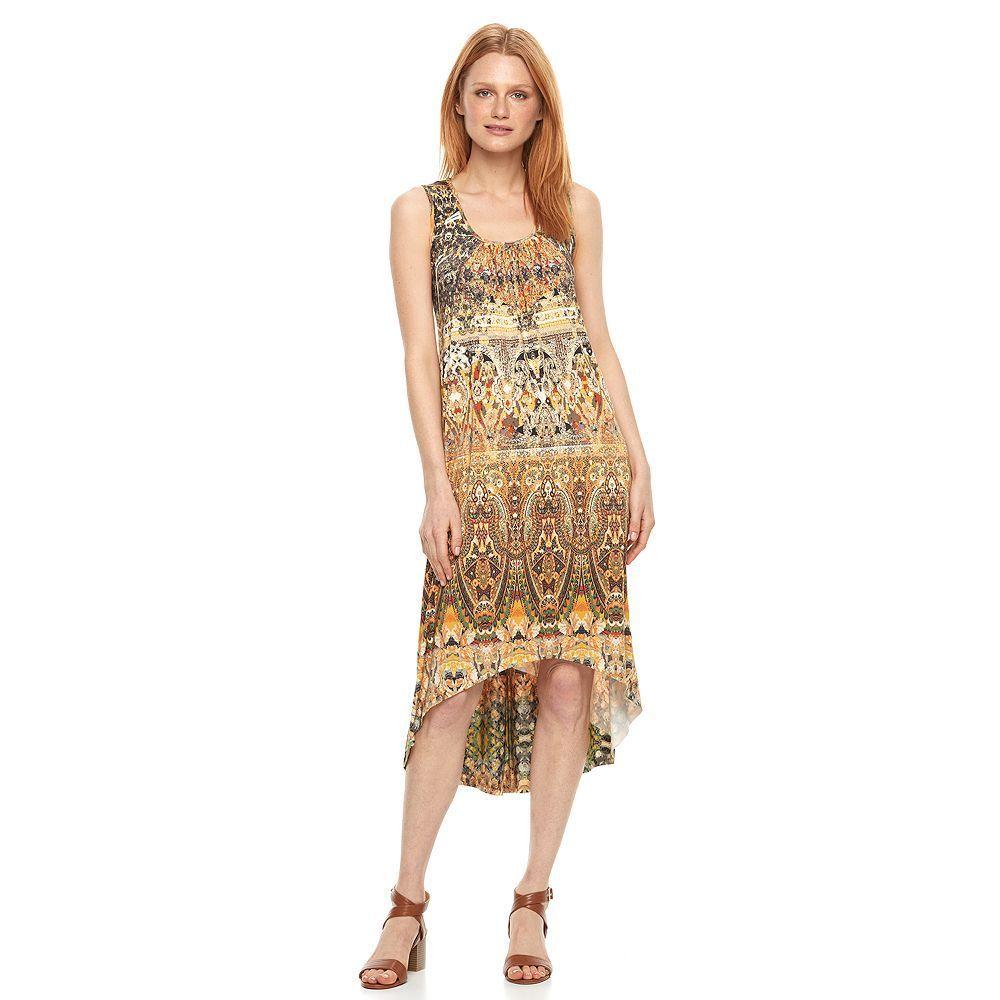 Women's World Unity Print High Low Shift Dress | Products