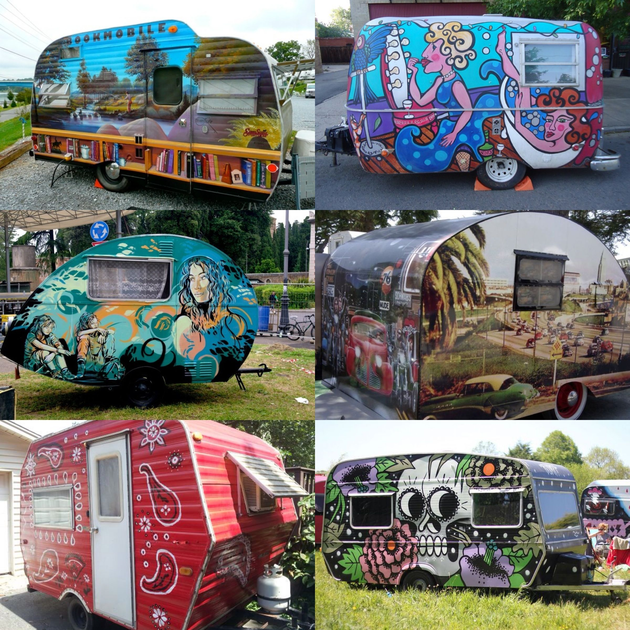 Would You Get A Funky Paint Job Like These On Your Camper Or Rv