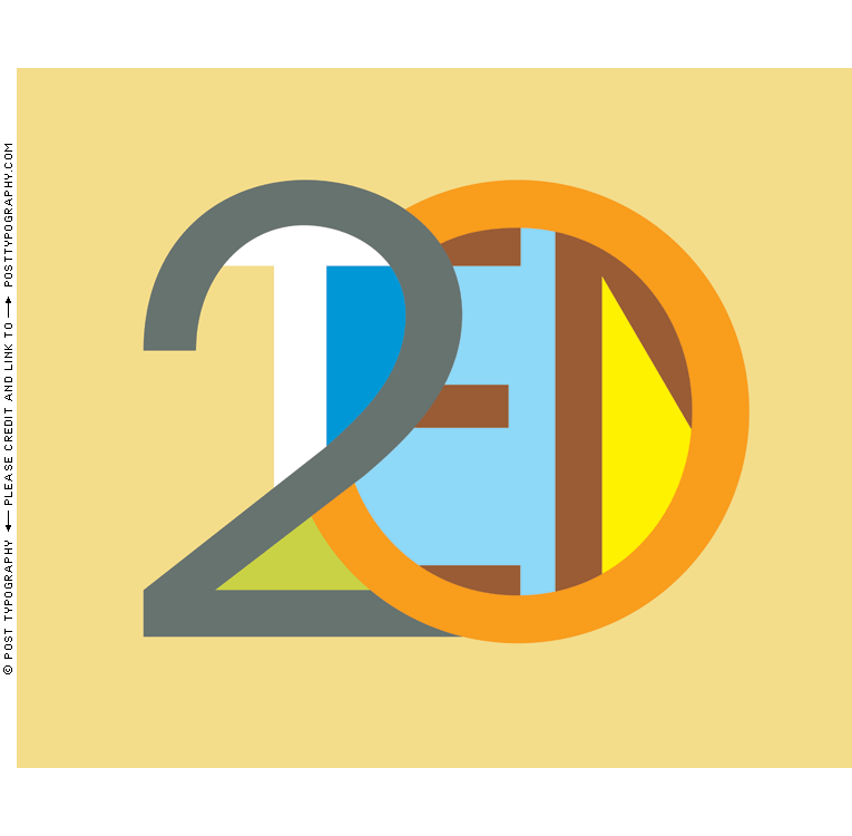 2010 Typographic Wall Calendar typography calendar lettering ...