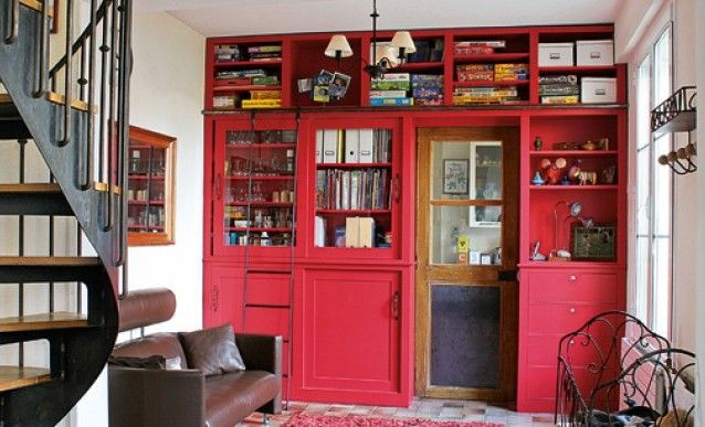 En haut Fabriquer soi-même une bibliothèque sur mesure | Cheminée #EG_71