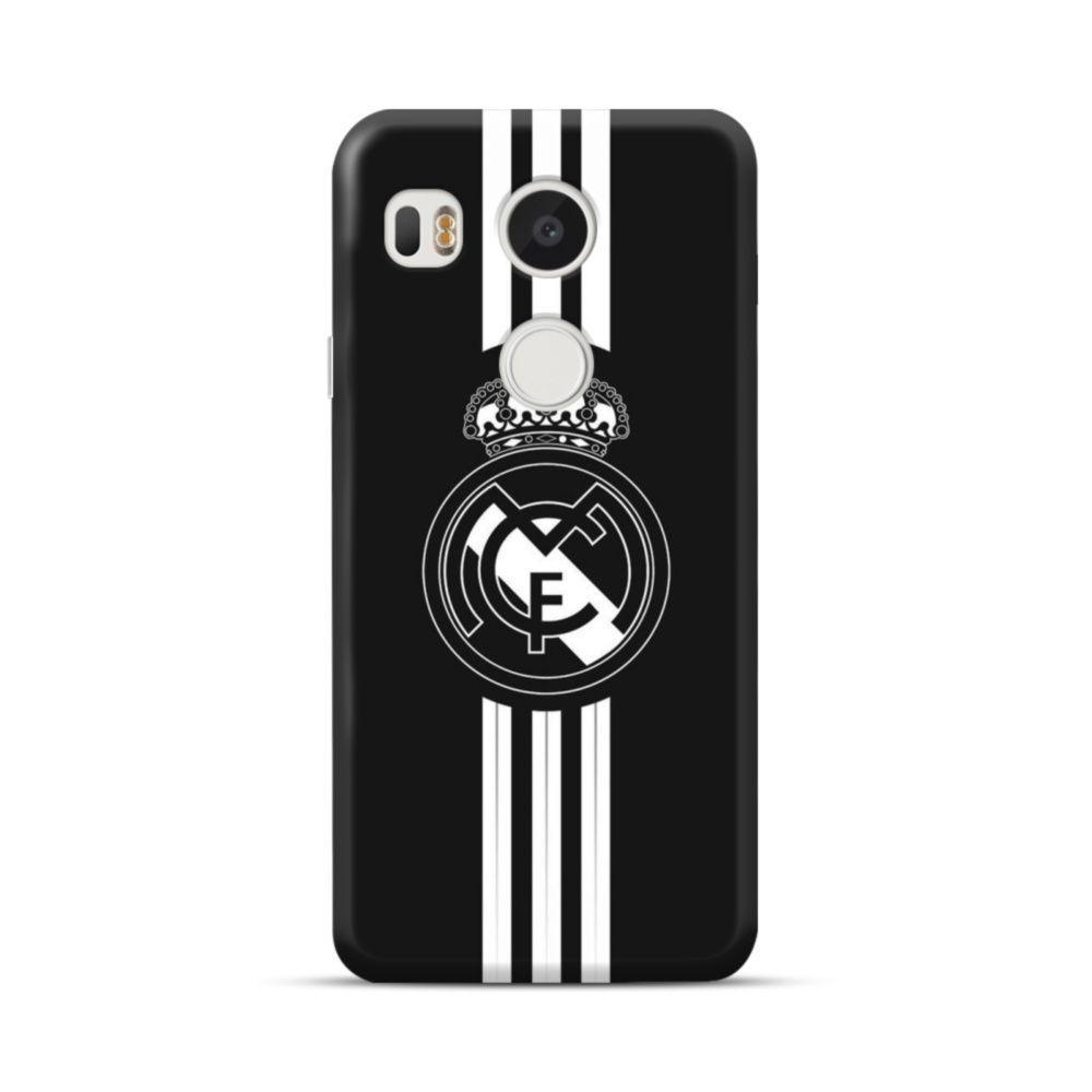 Real Madrid Team Logo Black White Iphone Xs Max Case Real Madrid Team White Iphone Iphone Black