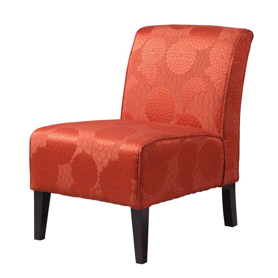 Linon home decor lily slipper chair in matelesse burnt