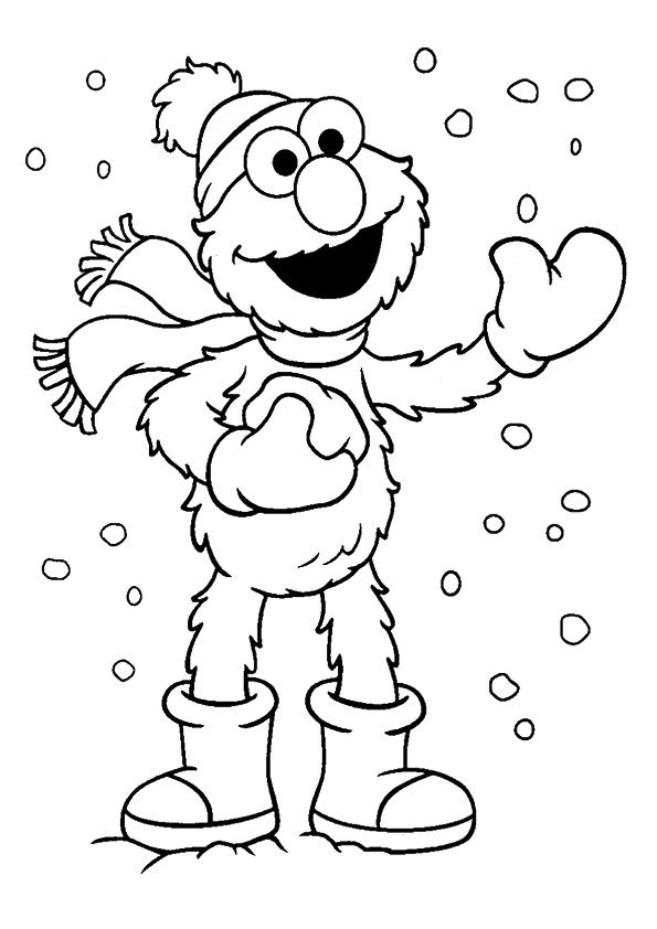 print coloring image - MomJunction  Elmo coloring pages, Sesame
