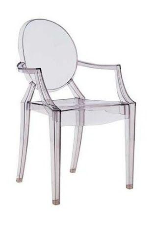 Cadeira de acrílico transparente