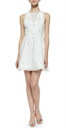 +Alice+++Olivia+Gilda+Embellished+Lace-Back+Dress