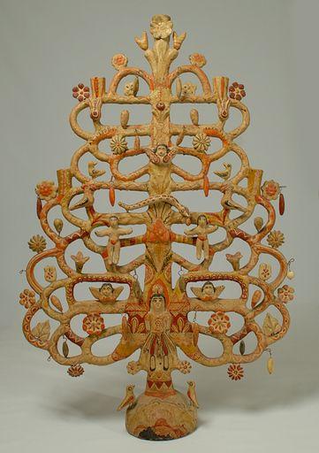 Vintage Mexican tree of life by Aurelio Flores