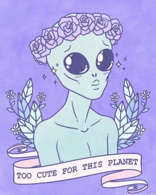 alien, alternative, background, blue, cute - image #3914055 by ...