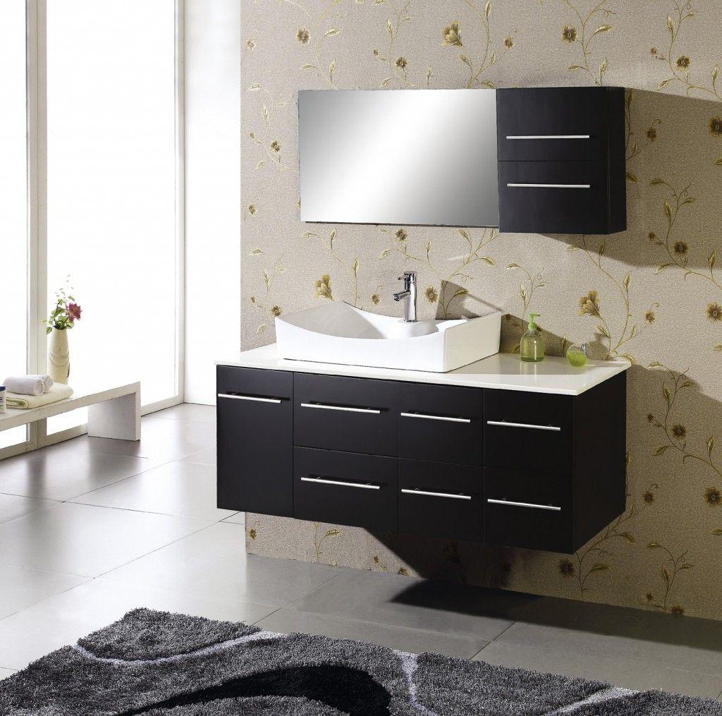mueble bajo lavabo | Gabinetes de Baños | Pinterest | Black bathroom ...