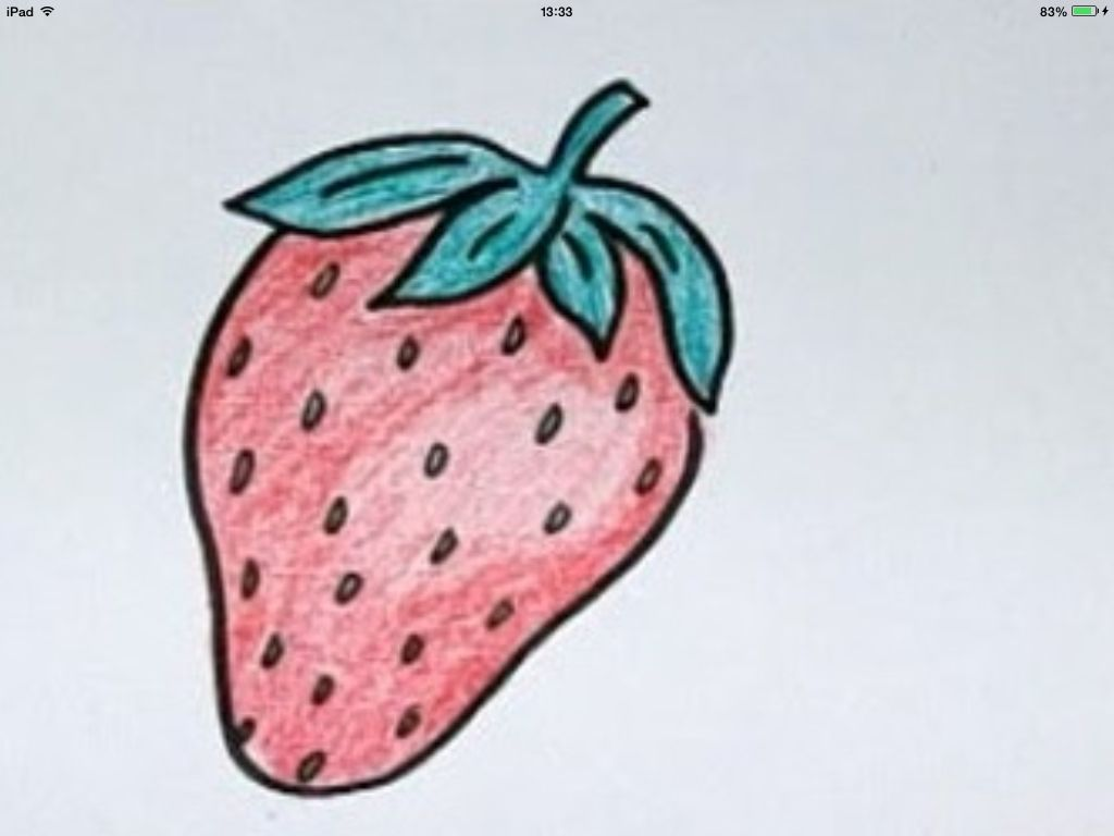 Easy strawberry drawing. Draw