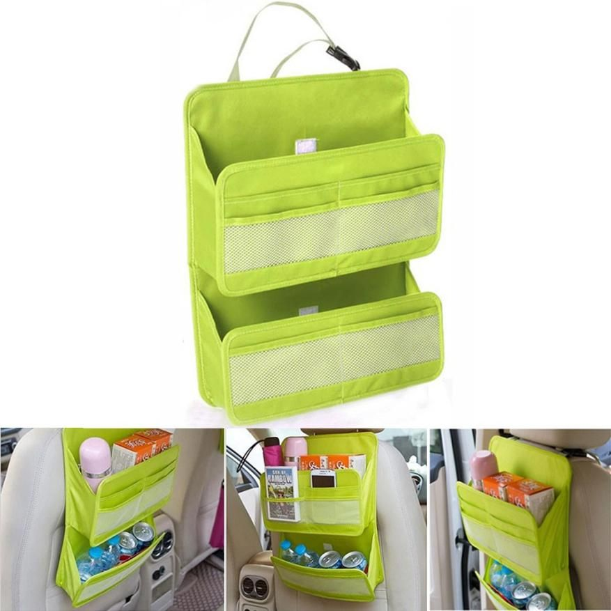 New Qualified Storage Car Back Seat Tidy Multi Pocket Hanging Storage Bag Organiser Auto Travel Holder  Levert Dropship dig6413