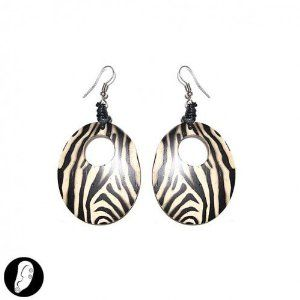 These Zebra earrings are promoted as black