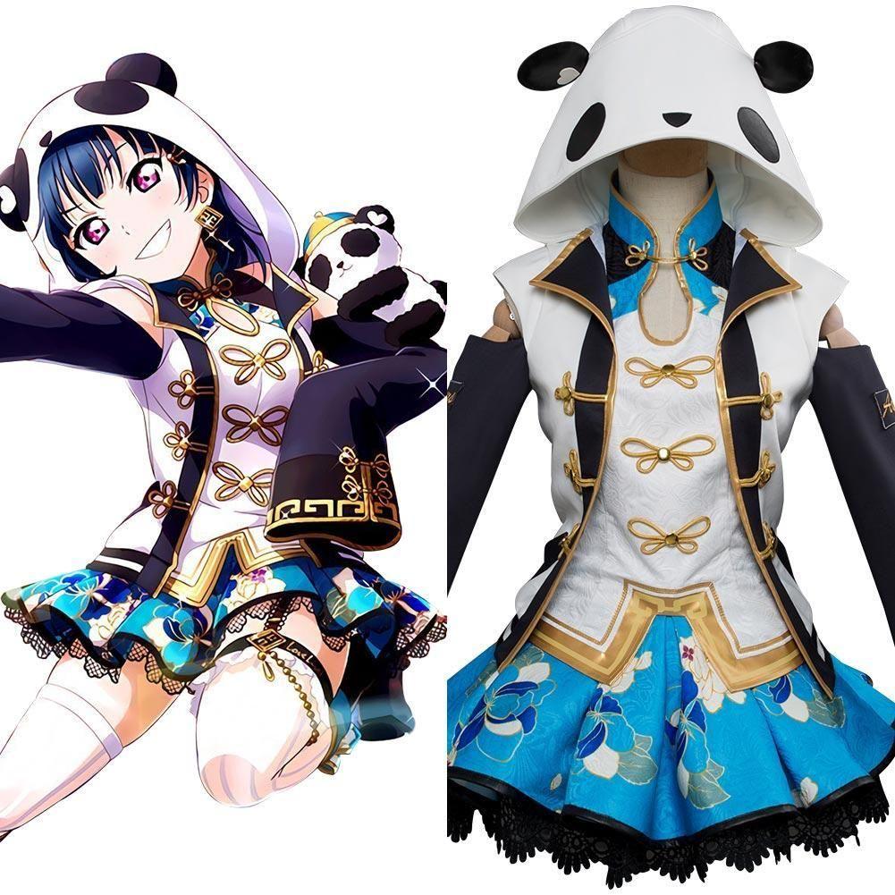 Love Live!Aqours Tsushima Yoshiko Punk Rock Dress Cosplay Costume Suit Uniform