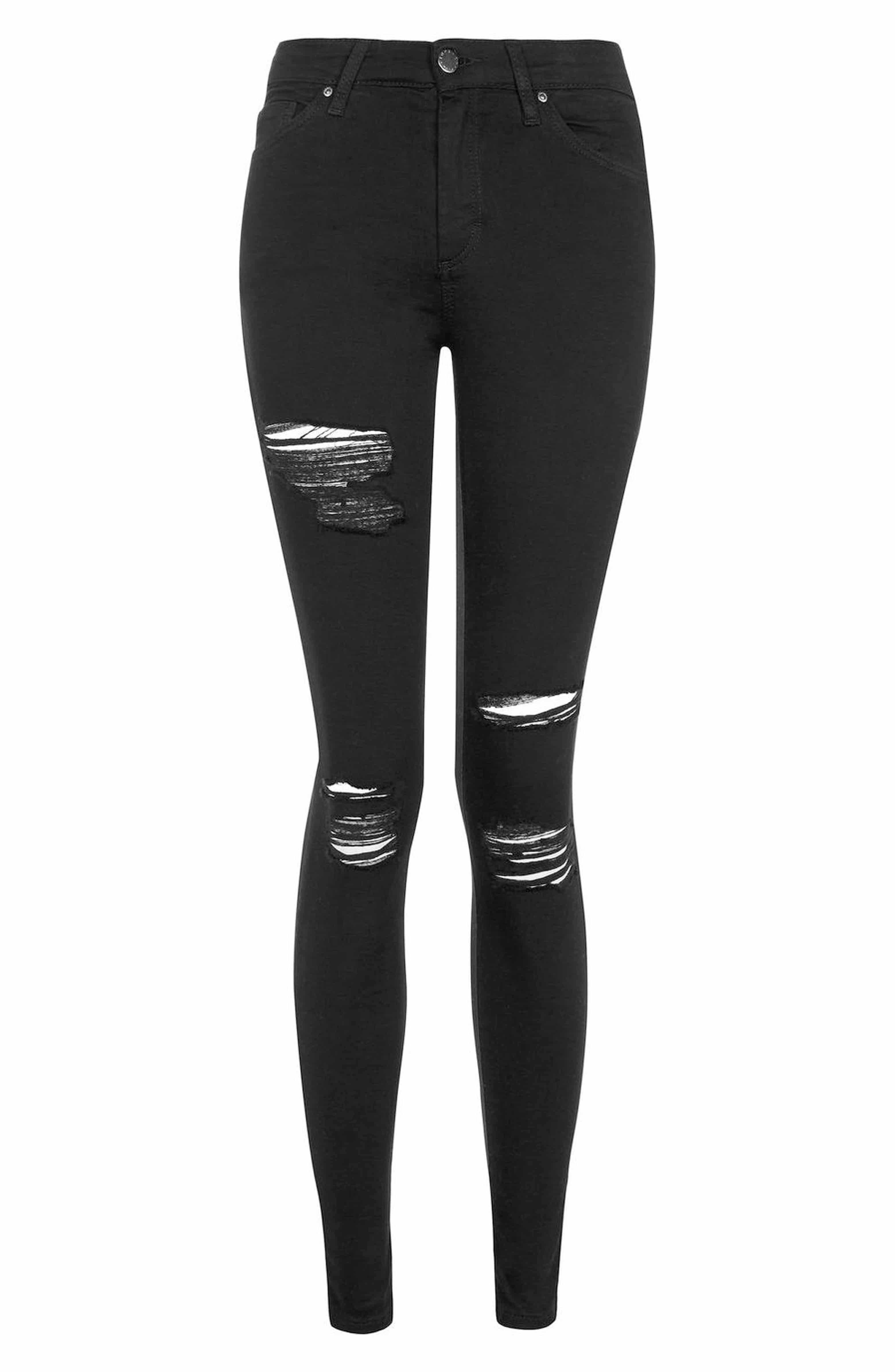 91ebc48eecb MOTO Leigh Super Rip Jeans, Alternate, color, BLACK | Preeeeetty ...
