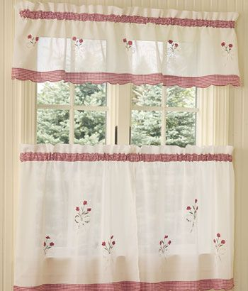 10 Ideas For Cheery 40s Or 50s Kitchen Curtains Vintage Kitchen Curtains Country Decor Diy Shabby Chic Kitchen