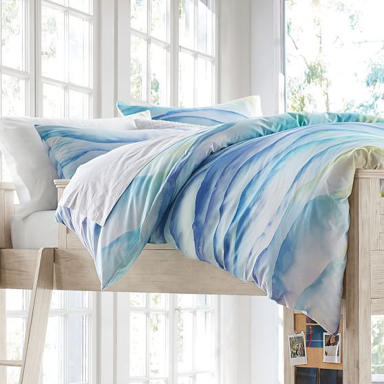 watercolor chevron comforter sham in 2019 bedding watercolor rh pinterest com