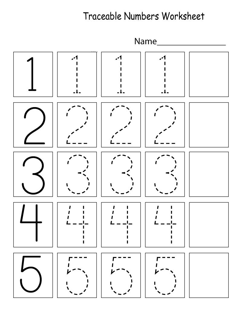 Fun Tracing Number Worksheets For Kids Learning Printable