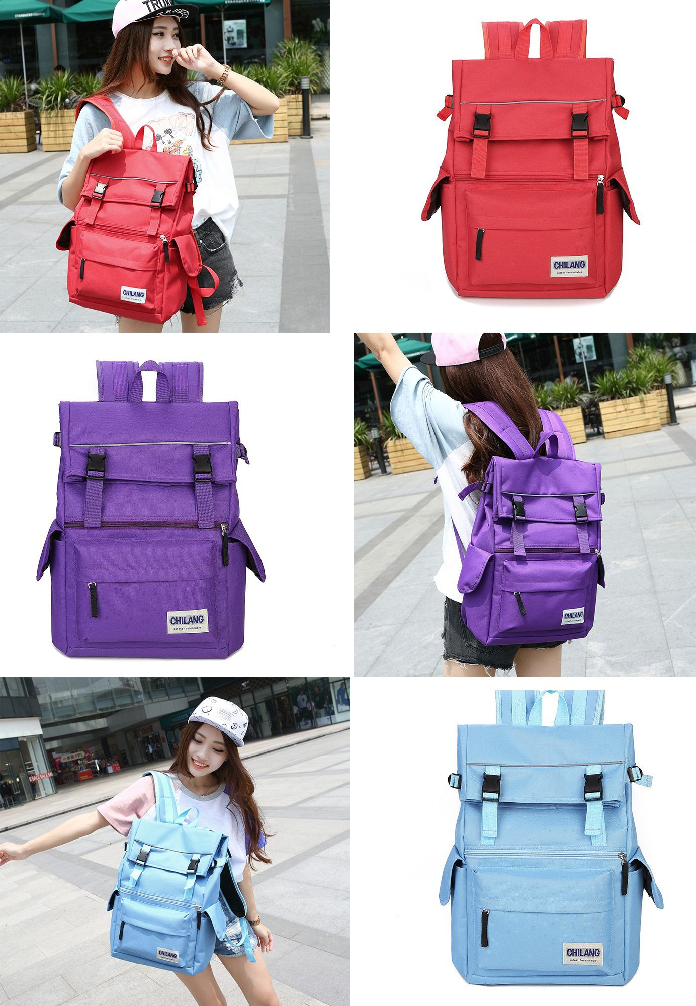 Large Capacity Leisure Nylon Waterproof Laptop Outdoor Backpack School Bag  for Girls backpack laptop women cc6defd294efd