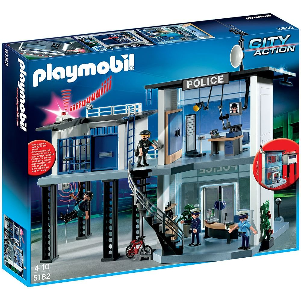 Playmobil Police Station With Alarm System 5182 Playmobil Police Station Best Home Security System