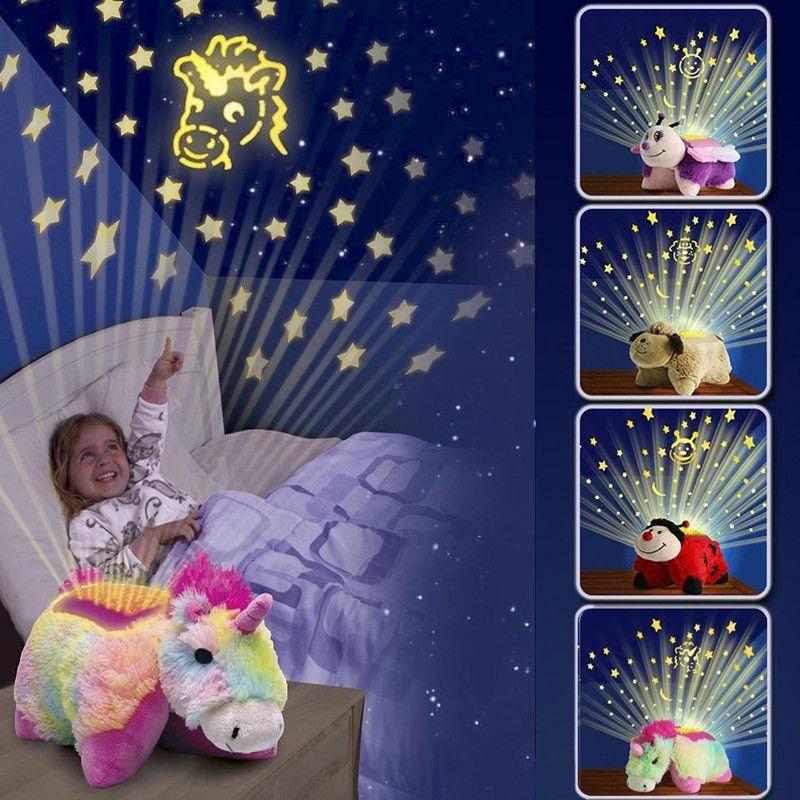 Unicorn Projection Plush Toy Night Light With Images Night Light Kids Animal Pillows