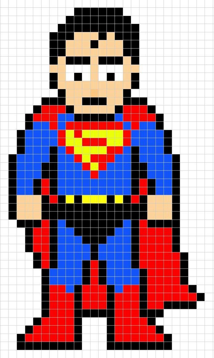 Superman Pixel Art Pixel Art Marvel Dc Comics Dc Comics