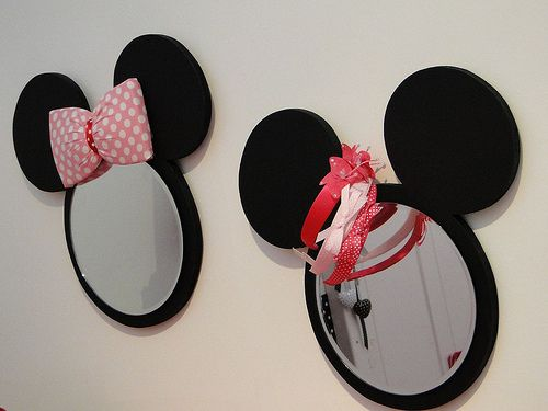 Disney Mickey and Minnie Mouse mirrors | photo by www.archana.nl