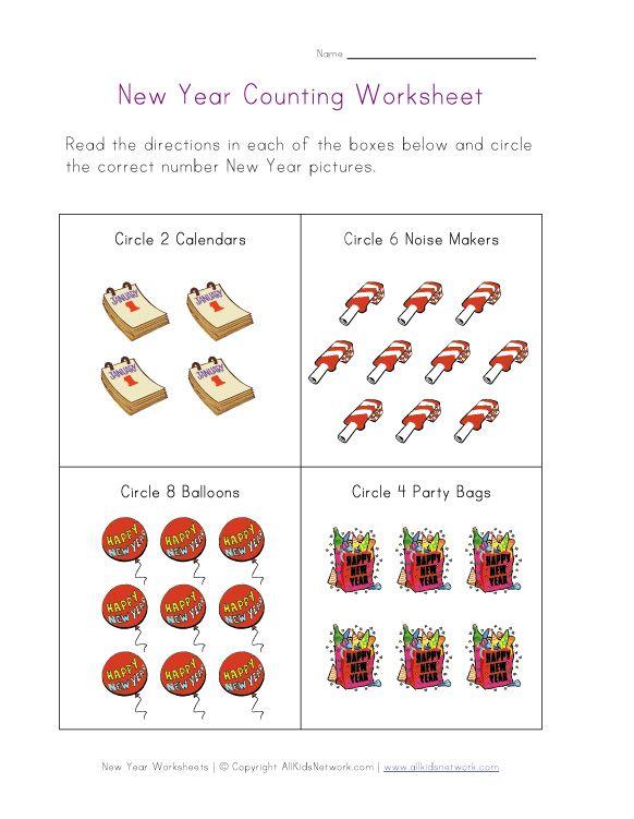 New Year Worksheets For Kids Fun Preschool Worksheets Preschool Worksheets New Years Worksheets Fun worksheets for pre k